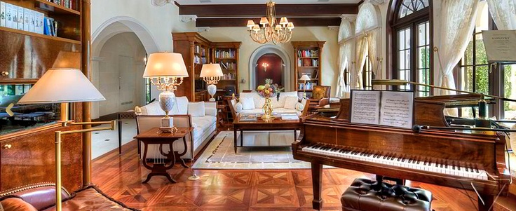 Mansion. Piano. Lamps  Click on REPIN above!  Click on link! www.bimbigticket.com $25