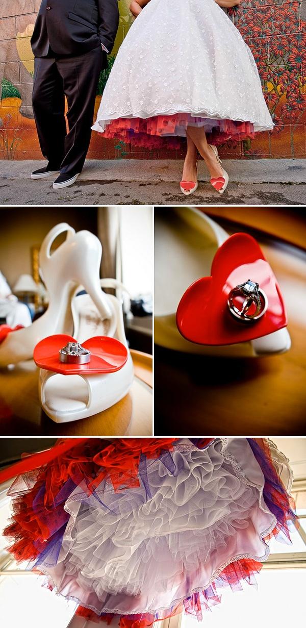 Свадебные туфли с красными сердечками #red #wedding #shoes