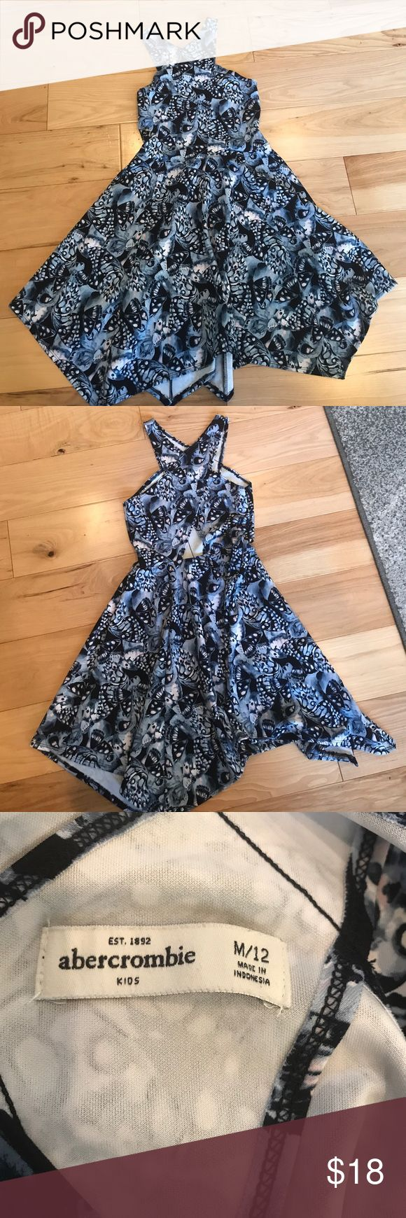Adorable kids Abercrombie dress Girls beautiful dress, in perfect condition.  Cute little cut out in lower back. Size 12 abercrombie kids Dresses