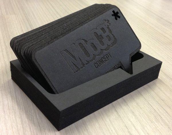 MOoCB* business card - laser engraved / cut