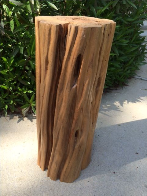Reclaimed Sinker Cypress Side Table By Natural Creations.