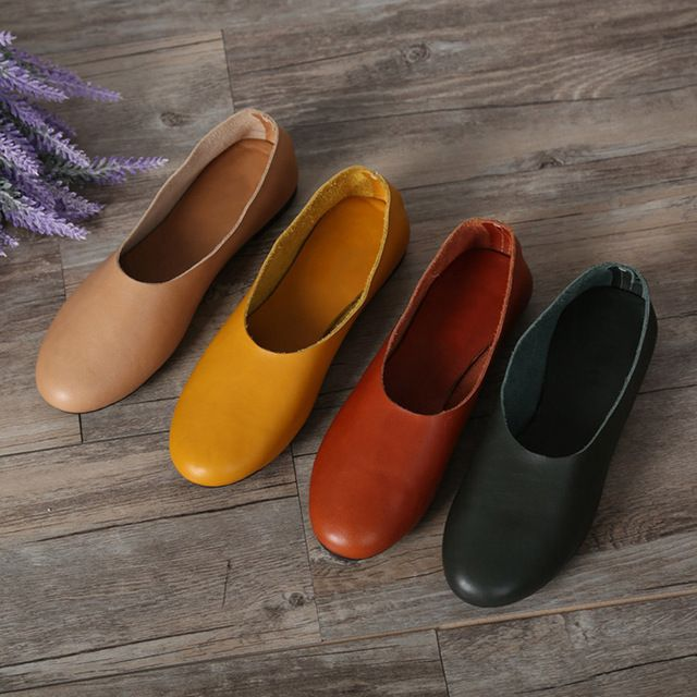 We love it and we know you also love it as well (35-42)Woman Shoes Flat Genuine Leather Slip on Ballet Flats Anti-slip Ladies Flat Shoes Female Footwear large size(1605) just only $62.90 with free shipping worldwide  #womenshoes Plese click on picture to see our special price for you