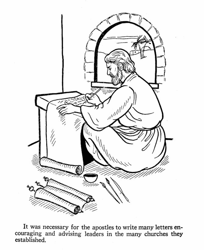 The Apostles Of Jesus Coloring Pages