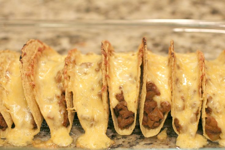 Oven Tacos - These were amazing! This is the best way to eat tacos!