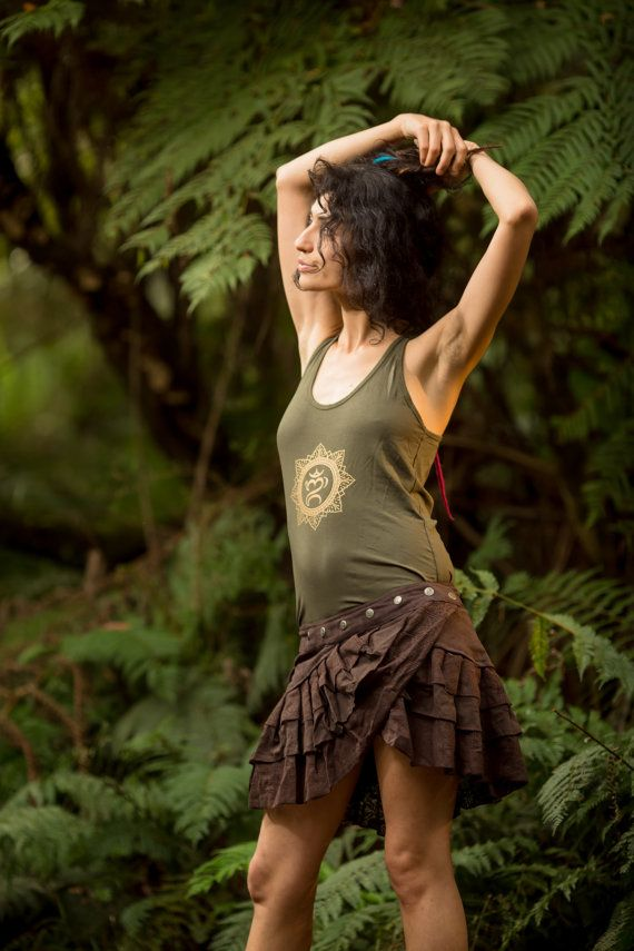 Brown Lily Layer Skirt  Handmade Gypsy Goa by AryaClothing on Etsy
