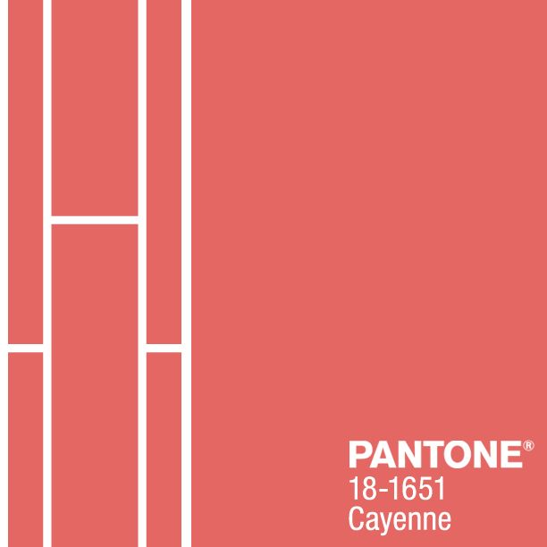 PANTONE 18-1651 Cayenne, a high-pitched red, adds a dash ...