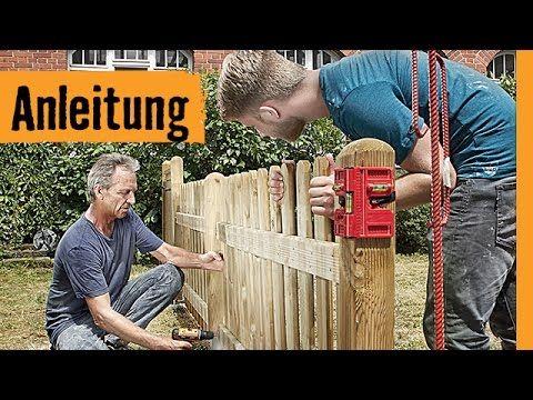Holzzaun Bauen Hornbach Meisterschmiede Youtube Zaun Pinterest