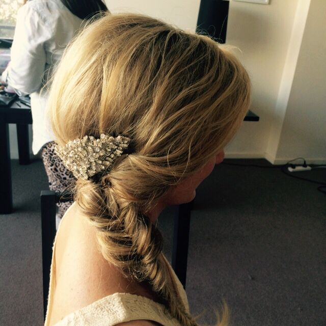 Fishtail bride. Done by K Image hair in Melbourne.