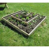 Geek | Infinite Cedar Multi-Level Raised Garden Bed Kit, Wood