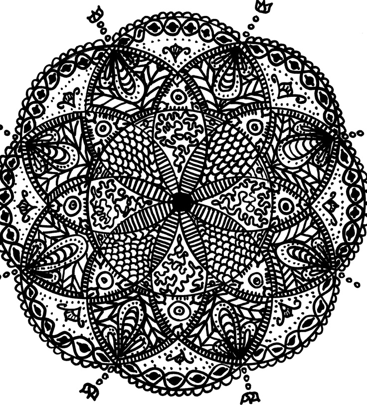 Sharpie mandala (With images) | Coloring pages, Doodles ...