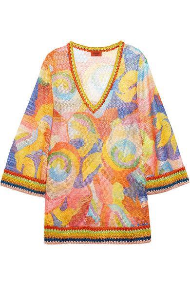 Missoni - Mare Metallic Crochet-knit Kaftan - Orange