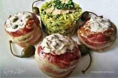 Медальоны в беконе с соусом из каперсов и пастой рисони  Богатое блюдо, которое украсит ваш стол и порадует замечательным вкусом. Идеальное сочетание мяса, соуса и пряных трав, дополненное сочным беконом. Вам понравится! #готовимдома #едимдома #кулинария #домашняяеда #мясо #медальоны #соус #паста #каперсы #ужин #вкусноеблюдо #блюдонаужин