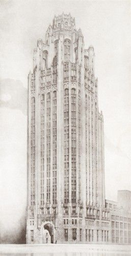 [CHICAGO]. Tribune Tower, Chicago.  Chicago, The Tribune Company, 1923.