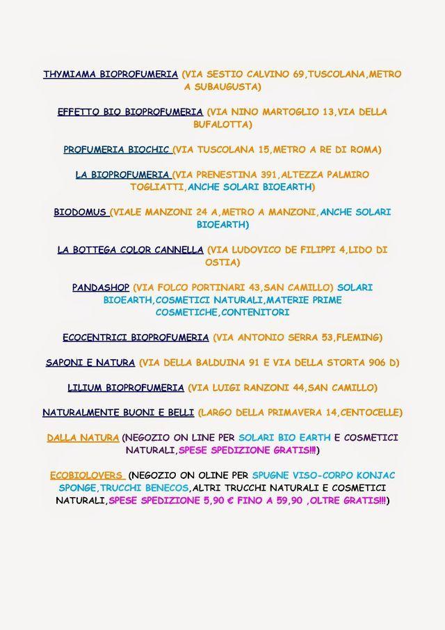 NEGOZI A ROMA E NEGOZI ON LINE PER SPIGNATTARE O ACQUISTARE COSMETICI PRONTI!!! | Le 1000 meraviglie dei cosmetici fai da te | Bloglovin'
