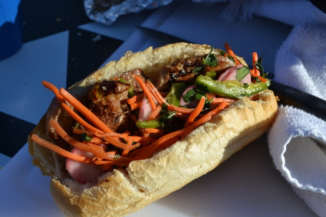 Banh Mi Sandwiches   http://www.hardlyhousewives.com/2012/11/banh-mi-sandwiches-on-grill.html