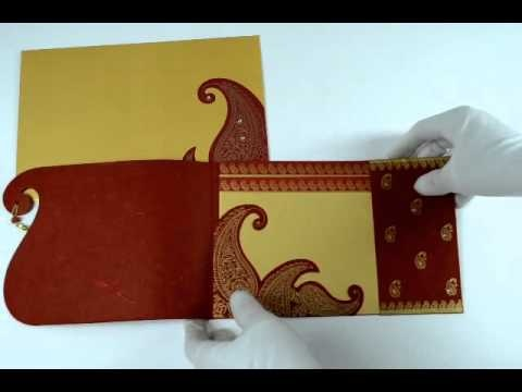 83 best indian wedding cards images on pinterest indian bridal red color handmade paper designer multifaith invitations card with rhinestones stopboris Image collections