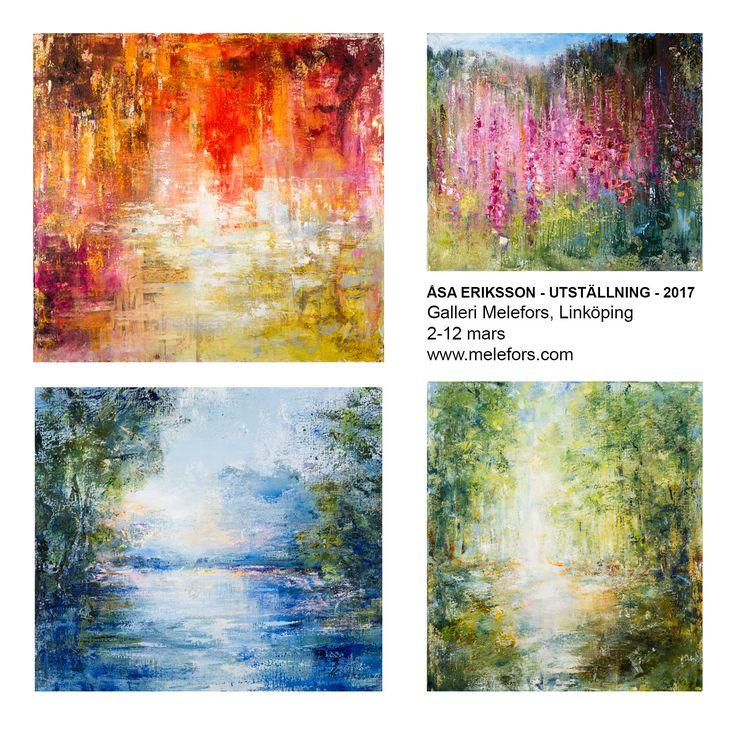 """ÅSA ERIKSSON - UTSTÄLLNING 2017 - """"I samklang med naturen"""" FÖRHANDSVISNING 2 MARS, UTSTÄLLNING 3-12 MARS.  Välkommen till Linköping för att se 33 st verk av Åsa Eriksson - konstnären som inspireras av natur, ljus och magi. Välkommen!  #åsaeriksson #åsa #eriksson #art #konst #utställning #exhibition #linköping #tillsalu #flowers #natur #blommor #vatten #näckrosor #rosor #färg #inredning #oljemålning #målning #olja #tavla #dekoration #vår #fantasi #monet #gallerimelefors #melefors"""