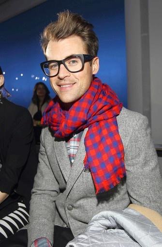 Loving Brad Goreski's Louis Vuitton Masai scarf.