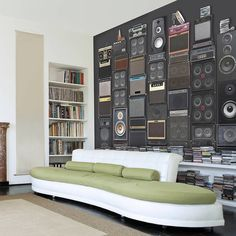Music Speaker Stack Wallpaper / You may not have that many type of sound systems in the house but the Music Speaker Stack Wallpaper will make you feel like a rockstar. http://thegadgetflow.com/portfolio/music-speaker-stack-wallpaper/