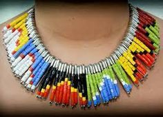 gioielli con le spille | 1000+ images about Abalorios collares on Pinterest | Beaded necklaces ...