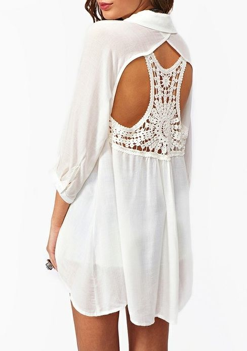 adorable!: Summer Shirts, Summer Dresses, Fashion, Style, Clothing, Crochet Cutout, Nasty Gal, Cut Outs, Cutout Blouses