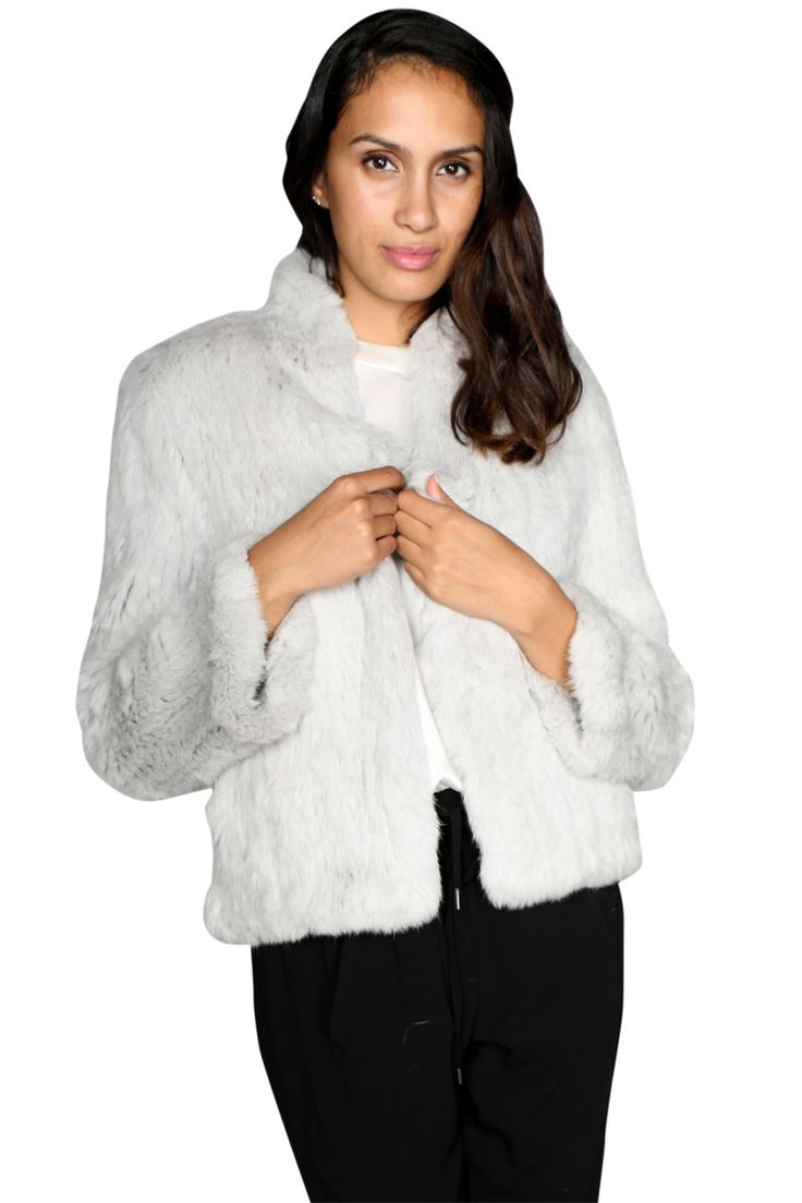 Luxe Deluxe - Lush Fur Jacket In Silver