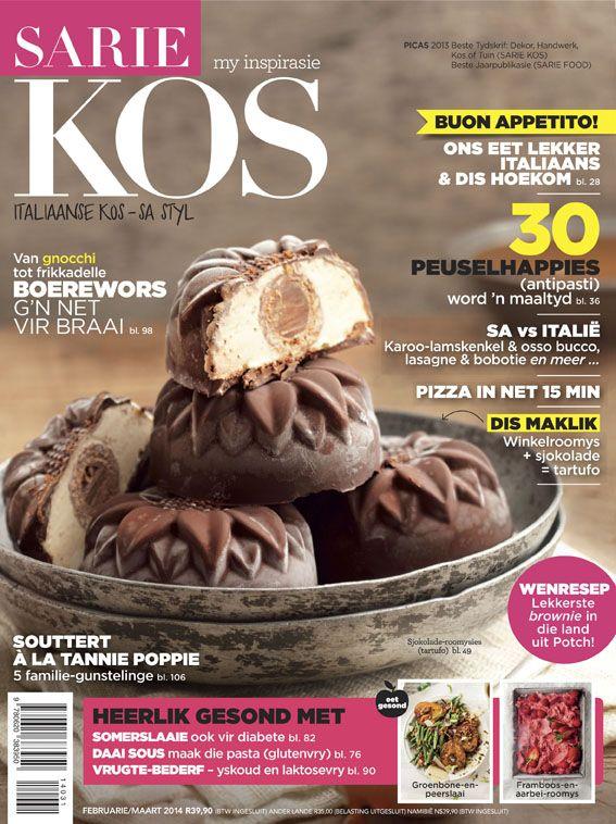 Italiaanse kos in Suid-Afrikaanse styl. Dít is wat jy kan verwag in die nuwe uitgawe van SARIE KOS (Februarie / Maart 2014 vanaf 29 Januarie op die rakke).