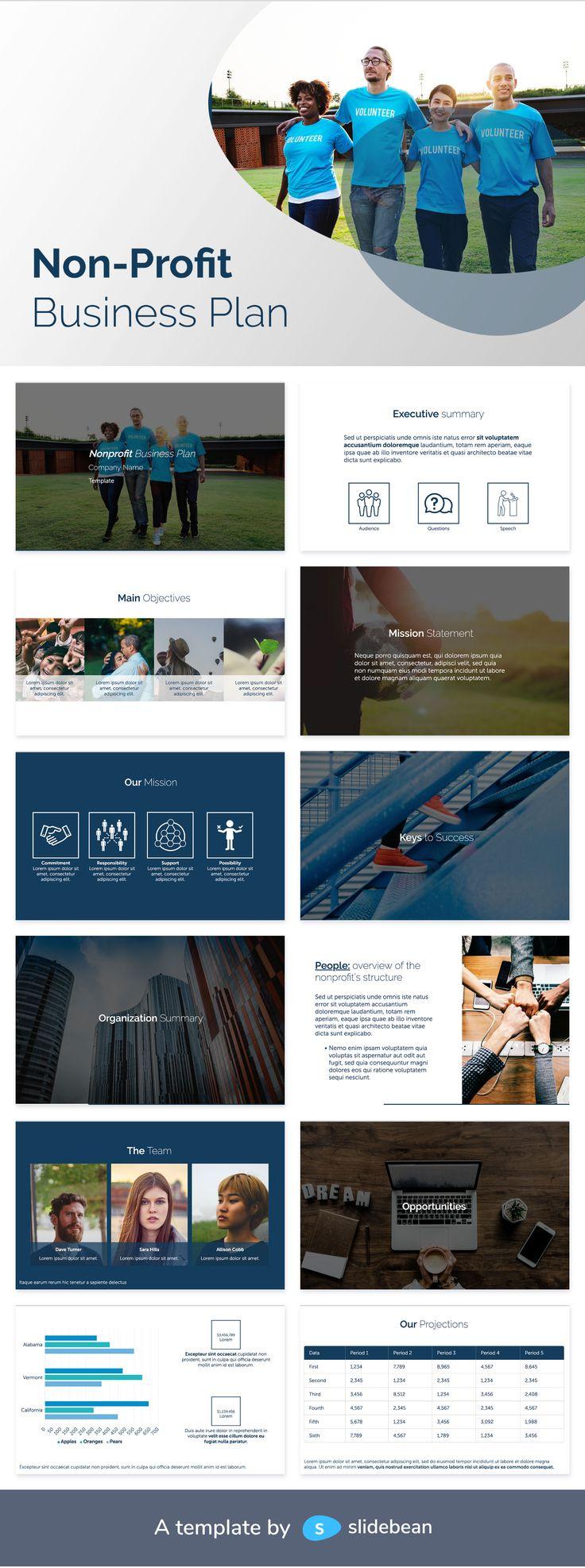 Non Profit Business Plan Template Free PDF & PPT