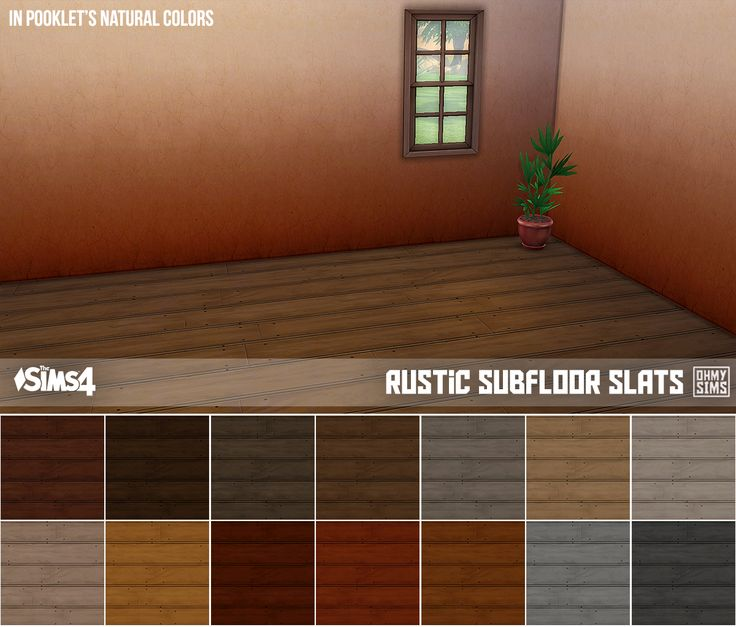 Oh My Sims 4 ? Here are two of my favorite wooden floors...