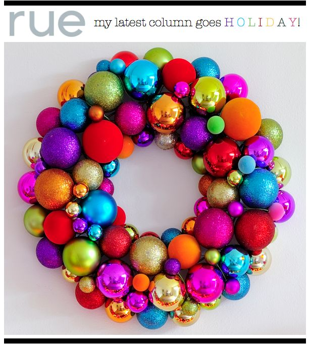 Even though I don't celebrate Christmas, this is still a cute DIY festive wreath!: