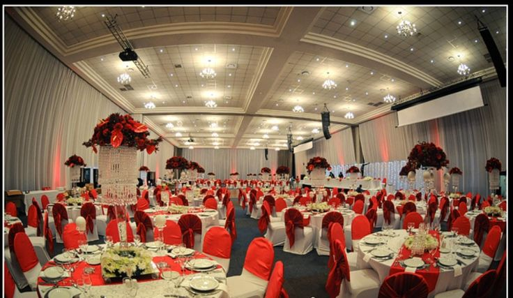 Moulin rouge inspired décor incorporating plenty of crystal