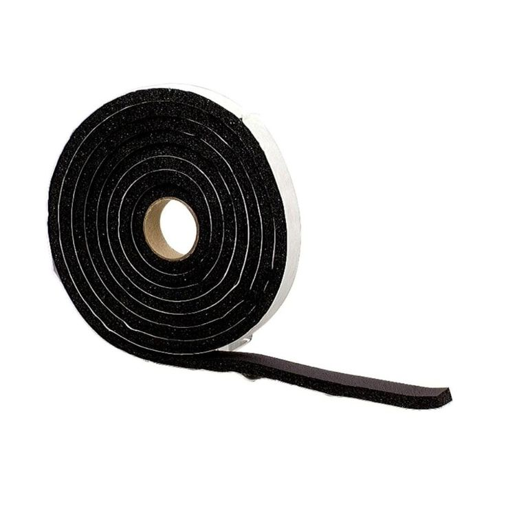 Multi-Purpose Sponge Tape - Extra Small 1/4 in. H x 1/2 in. W x 10 ft. L in Black