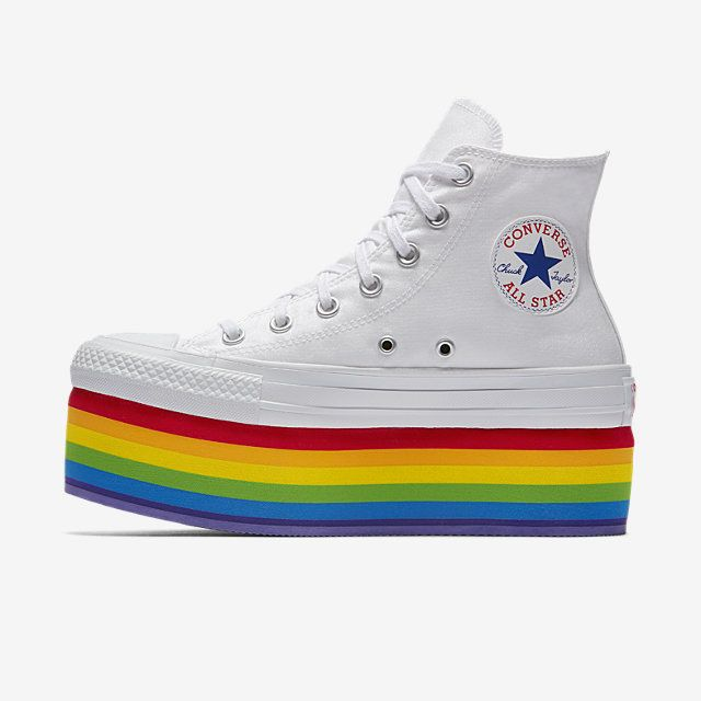 98eb4d5352d0 Converse Pride x Miley Cyrus Chuck Taylor All Star Platform High Top Unisex  Shoe. Nike.com