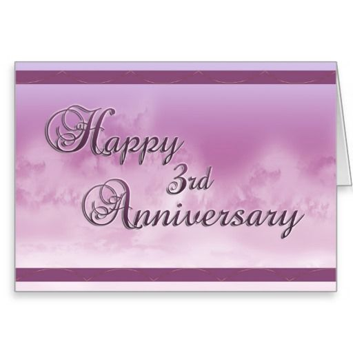 Gifts For 3rd Wedding Anniversary: Happy 3rd Anniversary (wedding Anniversary) Card