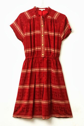 Burgundy Maroon Red Stripes Dress  by ClementinesBoutique on Etsy, $18.00