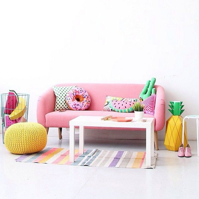 Have you seen the delightful feed of @aww.sam? How juicy is this room? We're in love! (With Mr P Giant Tropical Fruit Paper Sculpture Kit from mrpshop.com)