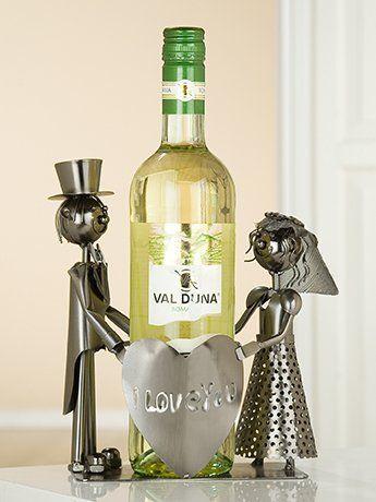 Gilde Flaschenhalter Weinflaschenhalter Hochzeitsgeschenk \'Just ...