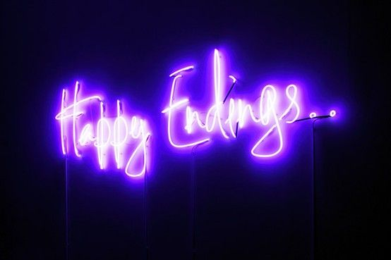 Happy Endings neon sign photographed by Isabelle Giovacchini