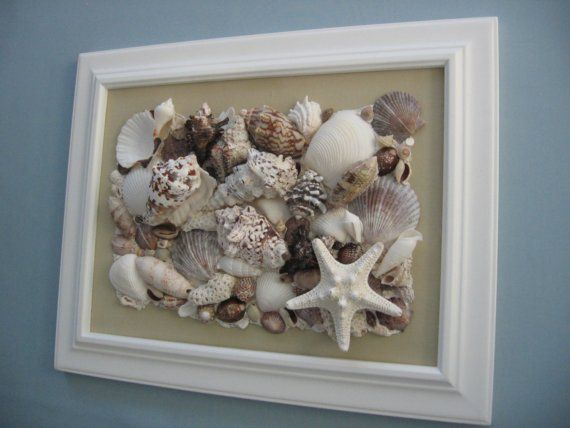 Reserved For Natalie Original Seashell Collage Tan