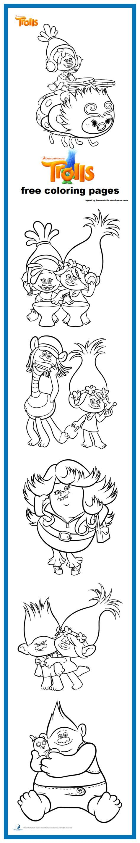 The 16 best trolls images on Pinterest | Coloring books, Colouring ...