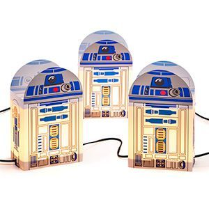 For both indoor and outdoor use, these R2 units will illuminate the path of the true Jedi. Or, you know, your mailman or your party guests. Whomever, really. They're not particular.