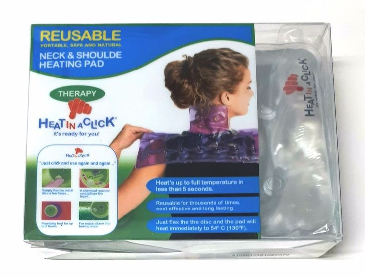 Heat In A Click- Reusable-Neck and Shoulder Heating Pad Therapy - Portable   #HEATINACLICK