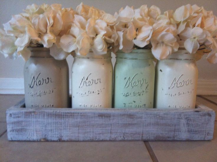 25 best ideas about everyday table centerpieces on for Kitchen jar ideas