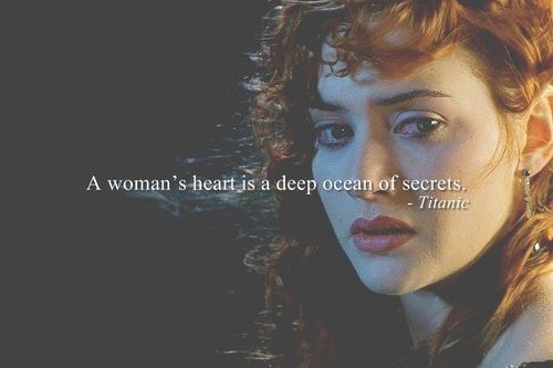 Deep ocean of secrets.