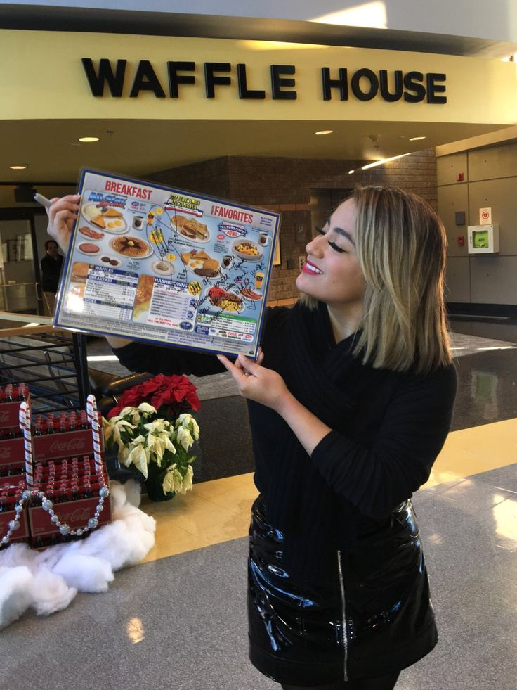 Ally Brook of Fifth Harmony visits Waffle House . . . #allybrooke #wafflehouse #fifthharmony