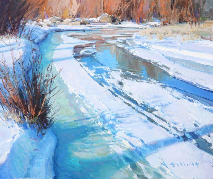"Blackfoot Winter    Josh Elliot, oil 10x12"""