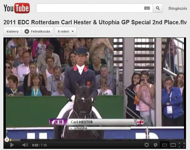 One of Great Britain's hopes for the Olympics: Carl Hester & Utophia. Enjoy!  A britek egyik legnagyobb olimpiai reménysége, Carl Hester & Utophia.  Videó: http://www.youtube.com/watch?feature=player_embedded=lRw7gmmQM9s