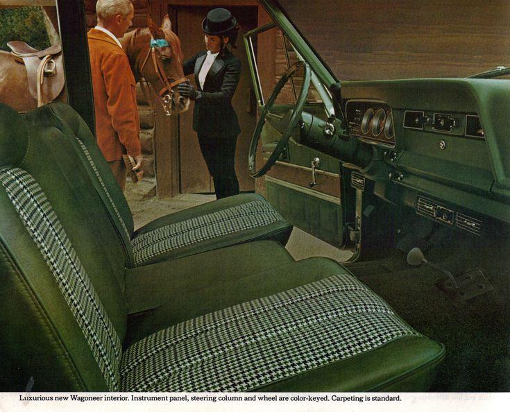 1973 Jeep Grand Wagoneer interior....playyyyeeerrrr!! Love ...