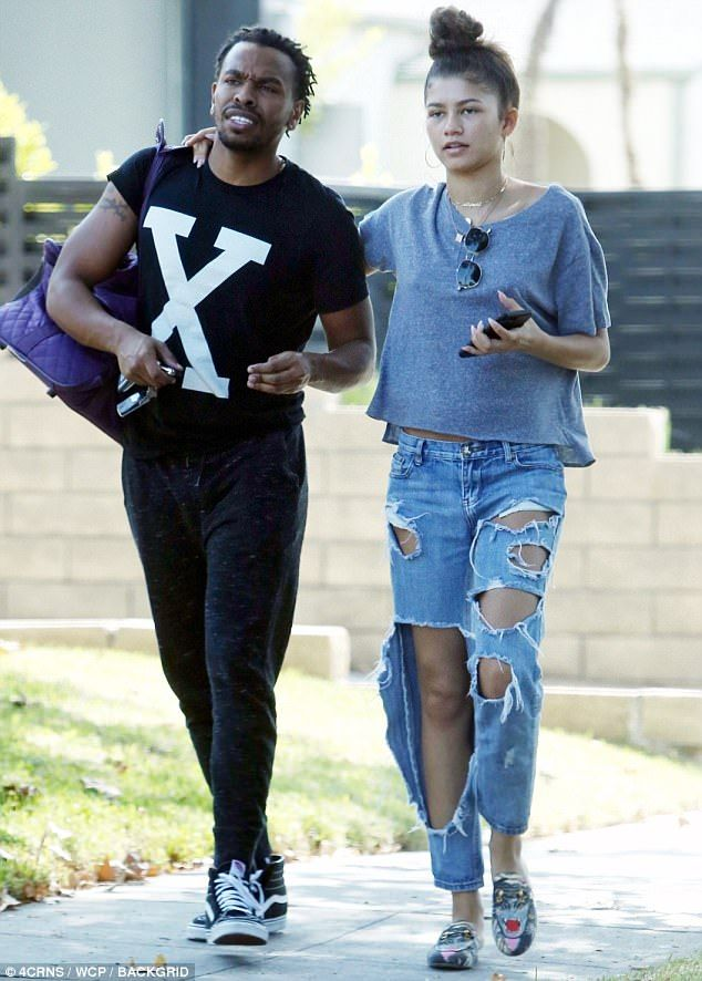 Brotherly love: Zendaya joined her sibling as he went for a haircut in LA on Saturday...