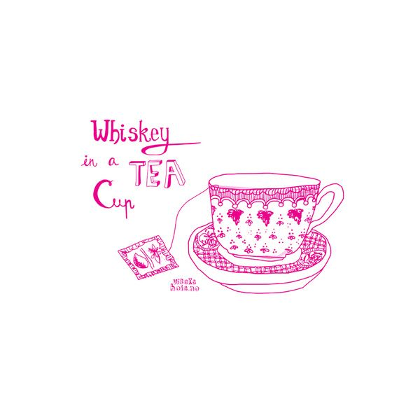 Whiskey in a tea cup Art Print